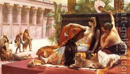 Cleopatra Testing Poisons on Condemned Prisoners by Alexandre Cabanel - Reproduction Oil Painting