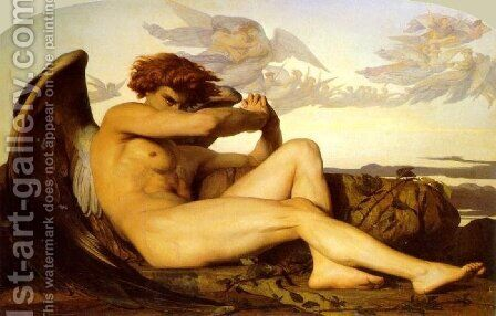 The Fallen Angel by Alexandre Cabanel - Reproduction Oil Painting