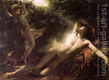Endymion Asleep by Anne-Louis Girodet de Roucy-Triosson - Reproduction Oil Painting