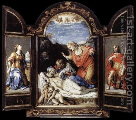 Open by Annibale Carracci - Reproduction Oil Painting