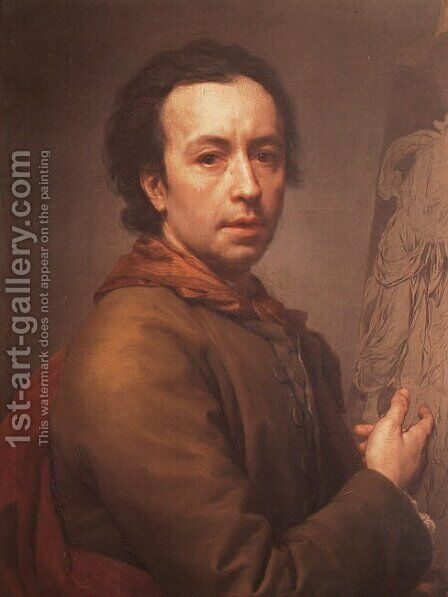 Self Portrait by Anton Raphael Mengs - Reproduction Oil Painting