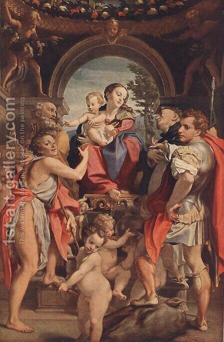 Madonna with St George by Correggio (Antonio Allegri) - Reproduction Oil Painting