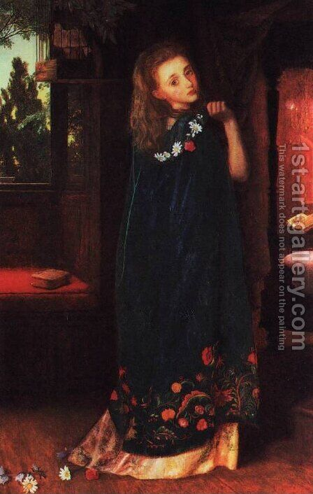Goodnight by Arthur Hughes - Reproduction Oil Painting