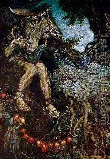 A Midsummer-Night's Dream by Arthur Rackham - Reproduction Oil Painting