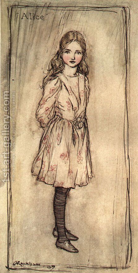 Alice in Wonderland by Arthur Rackham - Reproduction Oil Painting