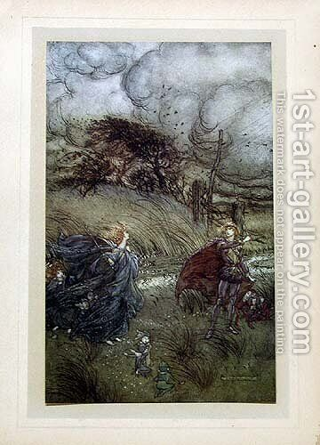 And now they meet in grove or green... by Arthur Rackham - Reproduction Oil Painting