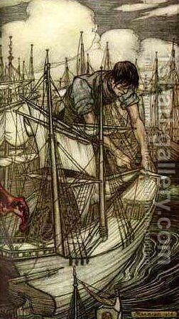 Gulliver by Arthur Rackham - Reproduction Oil Painting