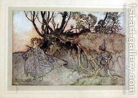 How now spirit, whiter wander you? by Arthur Rackham - Reproduction Oil Painting