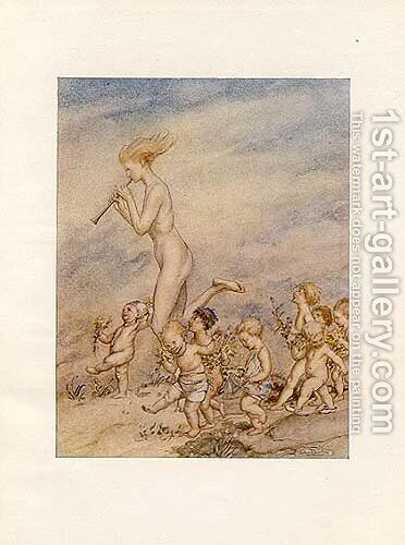 Now that May's call musters files of baby hands by Arthur Rackham - Reproduction Oil Painting