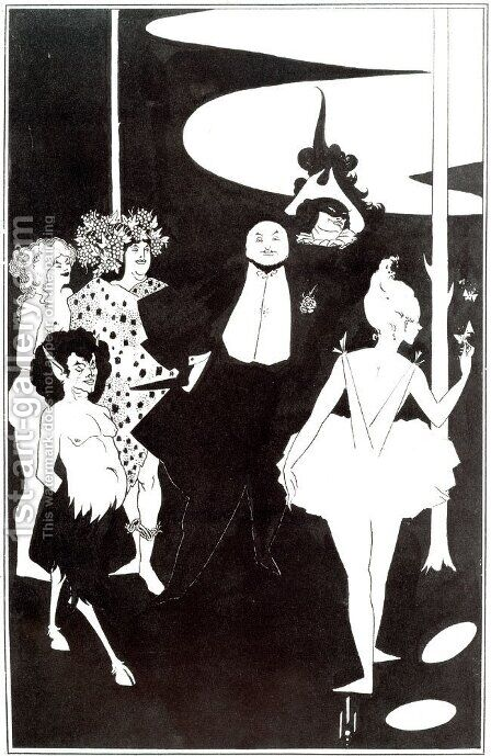 Title Page of 'The Savoy ', No 1 by Aubrey Vincent Beardsley - Reproduction Oil Painting