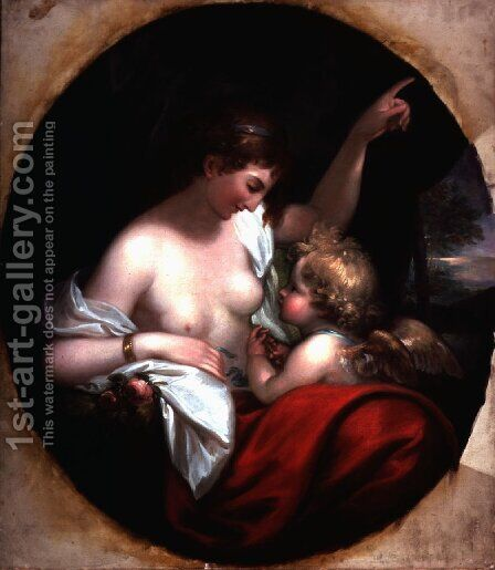 Venus and Cupid by Benjamin West - Reproduction Oil Painting
