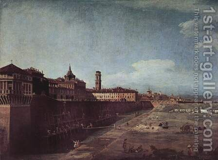 View of Turin near the Royal Palace by Bernardo Bellotto (Canaletto) - Reproduction Oil Painting