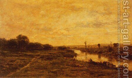Untitled 2 by Charles-Francois Daubigny - Reproduction Oil Painting