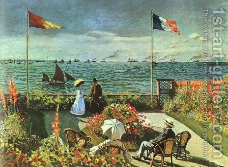 Terrace at St Adresse by Claude Oscar Monet - Reproduction Oil Painting