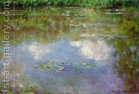 Water Lilies: Clouds by Claude Oscar Monet - Reproduction Oil Painting