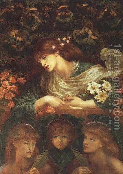 The Blessed Damozel by Dante Gabriel Rossetti - Reproduction Oil Painting