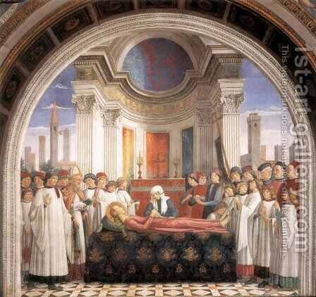 Obsequies of St Fina by Domenico Ghirlandaio - Reproduction Oil Painting