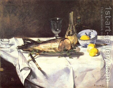 The Salmon by Edouard Manet - Reproduction Oil Painting