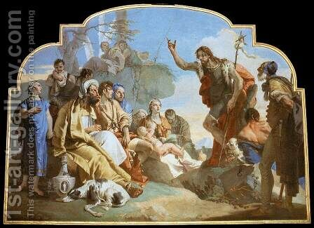 John the Baptist Preaching by Giovanni Battista Tiepolo - Reproduction Oil Painting