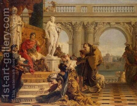 Maecenas Presenting the Arts to Augustus by Giovanni Battista Tiepolo - Reproduction Oil Painting