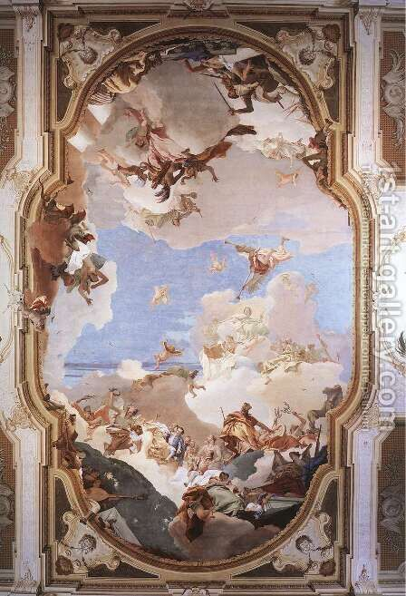 The Apotheosis of the Pisani Family by Giovanni Battista Tiepolo - Reproduction Oil Painting