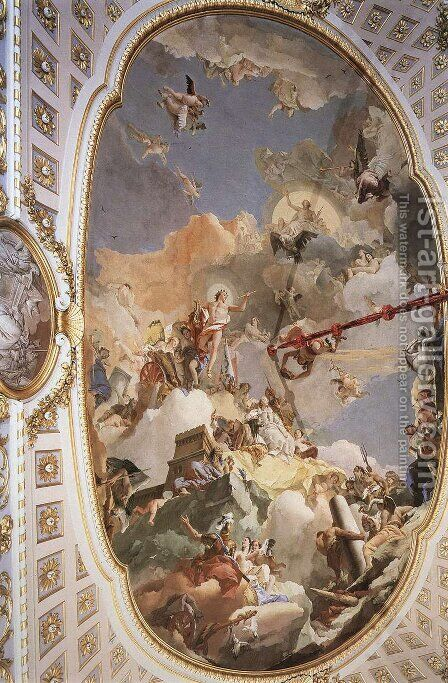 The Apotheosis of the Spanish Monarchy by Giovanni Battista Tiepolo - Reproduction Oil Painting