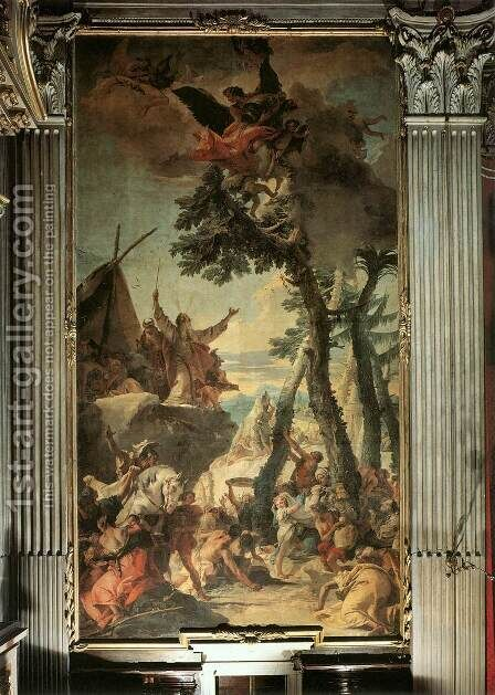 The Gathering of Manna by Giovanni Battista Tiepolo - Reproduction Oil Painting