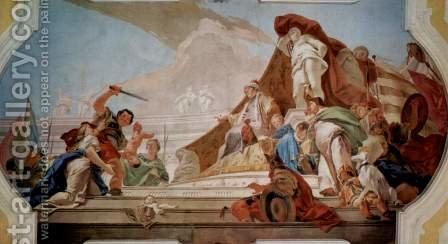 The Judgment of Solomon by Giovanni Battista Tiepolo - Reproduction Oil Painting