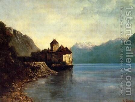 Chateau du Chillon by Gustave Courbet - Reproduction Oil Painting