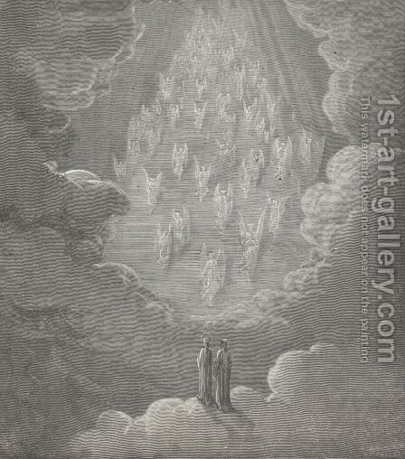 A ladder, which my ken pursued in vain,  (Canto XXI., line 29) by Gustave Dore - Reproduction Oil Painting