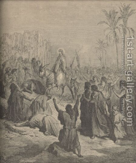 Christ's Entry Into Jerusalem by Gustave Dore - Reproduction Oil Painting