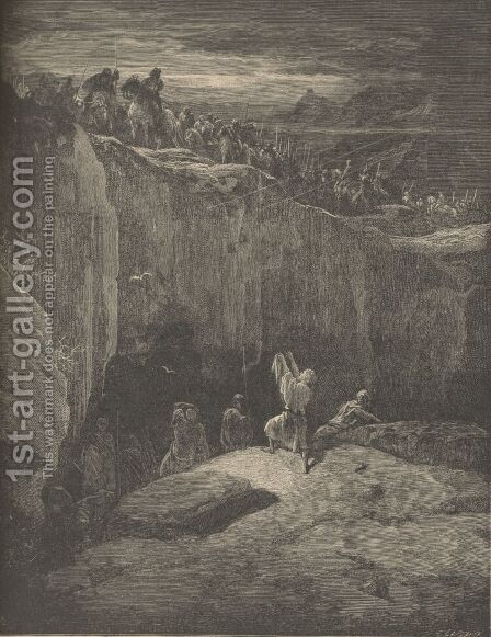 David Sparing Saul by Gustave Dore - Reproduction Oil Painting