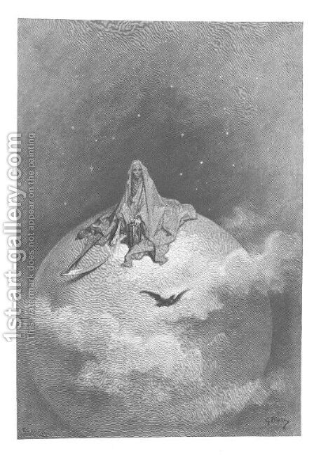 Doubting, dreaming dreams no mortal ever dared to dream before. by Gustave Dore - Reproduction Oil Painting