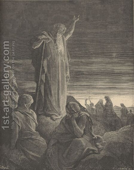 Ezekiel Prophesying by Gustave Dore - Reproduction Oil Painting