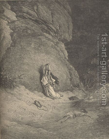 Hagar In The Wilderness by Gustave Dore - Reproduction Oil Painting