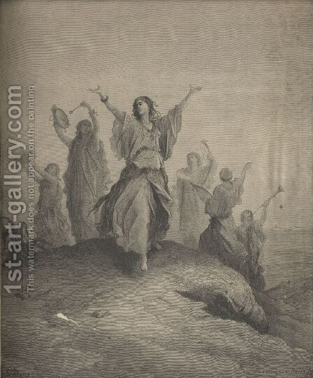 Jephthah Met By His Daughter by Gustave Dore - Reproduction Oil Painting
