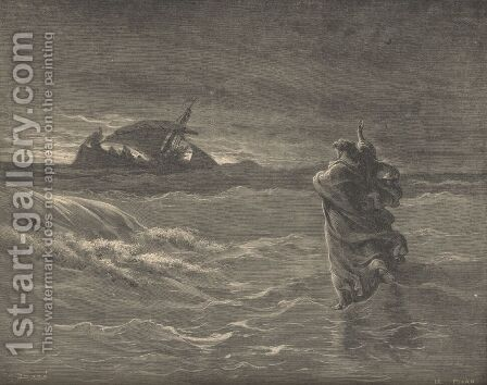 Jesus Walking On The Water by Gustave Dore - Reproduction Oil Painting