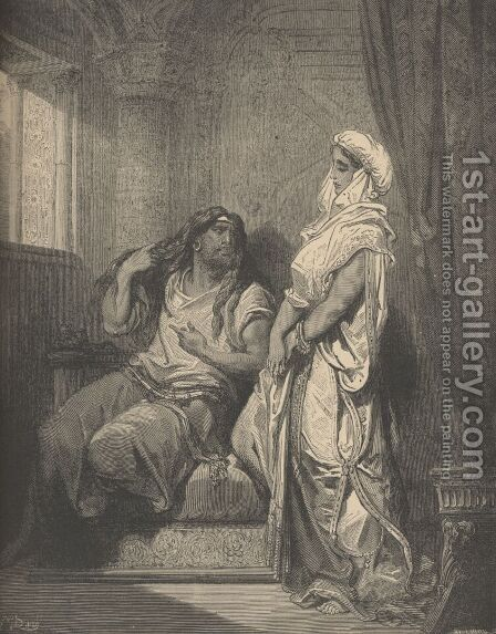 Samson And Delilah by Gustave Dore - Reproduction Oil Painting