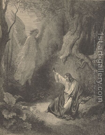 The Agony In The Garden by Gustave Dore - Reproduction Oil Painting