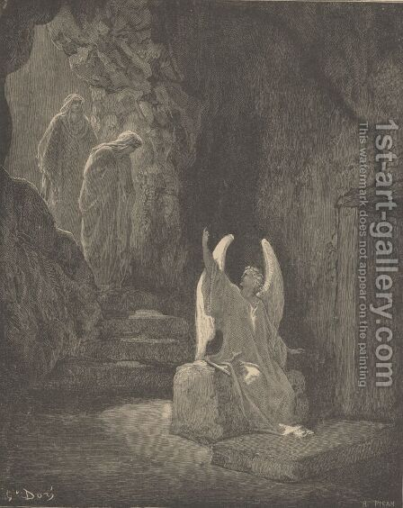 The Angel At The Sepulcher by Gustave Dore - Reproduction Oil Painting
