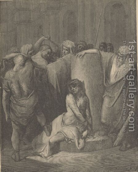 The Flagellation by Gustave Dore - Reproduction Oil Painting