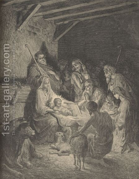 The Nativity by Gustave Dore - Reproduction Oil Painting
