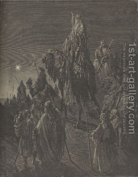 The Star In The East by Gustave Dore - Reproduction Oil Painting