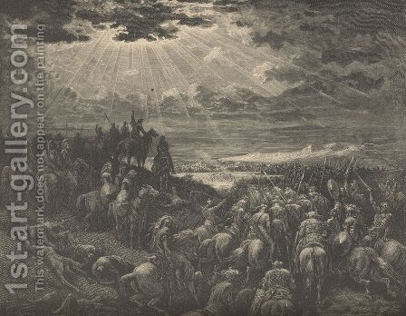 The War Against Gibeon by Gustave Dore - Reproduction Oil Painting