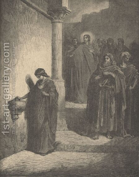 The Widow's Mite by Gustave Dore - Reproduction Oil Painting