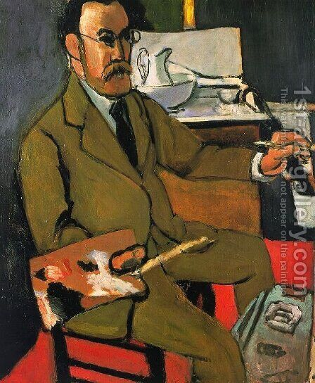 Self-Portrait by Henri Matisse - Reproduction Oil Painting