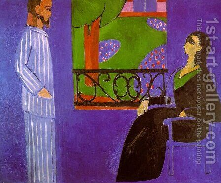The Conversation by Henri Matisse - Reproduction Oil Painting