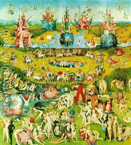 Ecclesia's paradise by Hieronymous Bosch - Reproduction Oil Painting