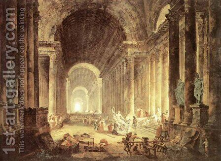 The Finding of the Laokoon by Hubert Robert - Reproduction Oil Painting