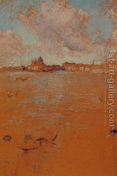 Venetian Scene by James Abbott McNeill Whistler - Reproduction Oil Painting